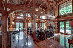 Luxury properties Custom log and timber frame mountain home