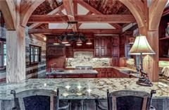 Custom log and timber frame mountain home mansions