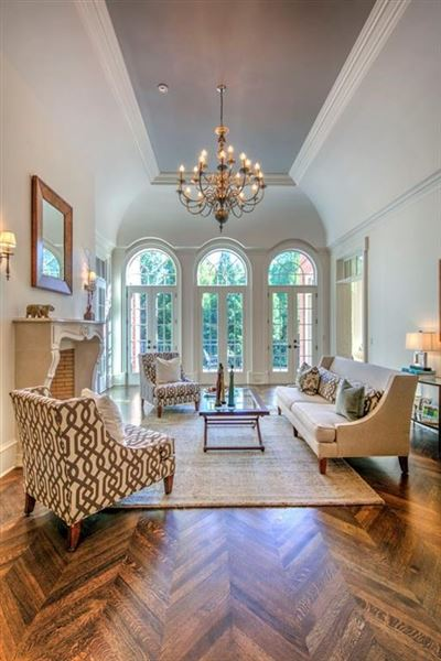 Regency-style estate in atlanta luxury homes