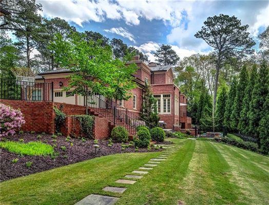 Regency-style estate in atlanta mansions