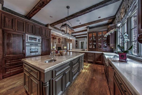 Exquisite estate includes seven fireplaces mansions