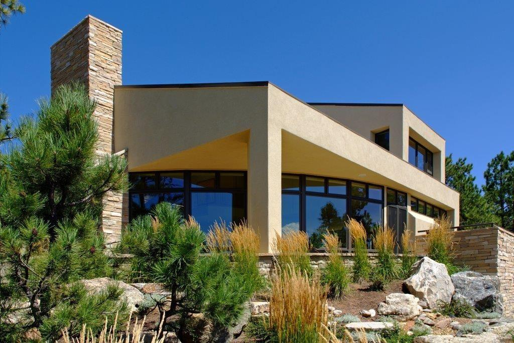 Luxury real estate Contemporary Smart Home with Commanding Views