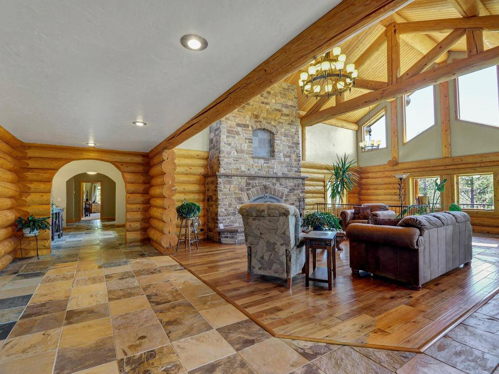 Luxury homes Elegant Log Design on 10-plus Acres