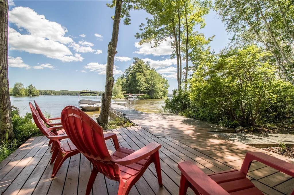 Luxury real estate Private Waterfront on Little Sebago Lake