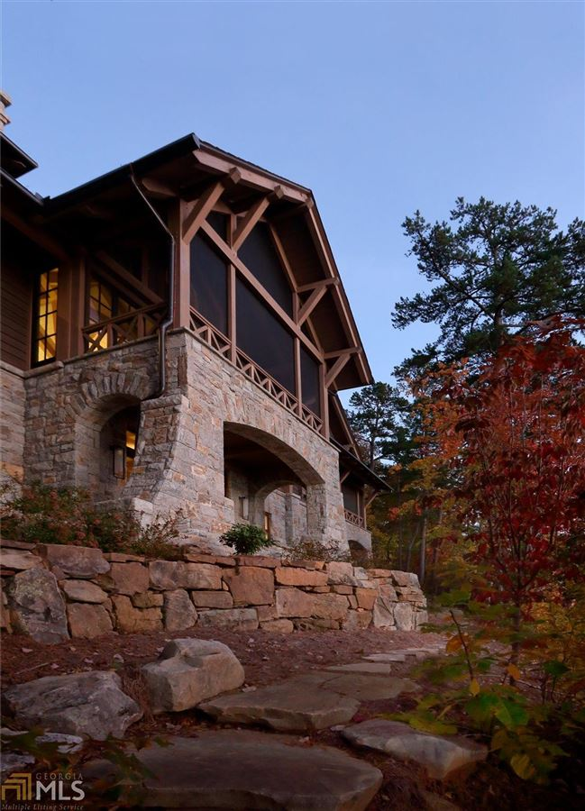 Luxury real estate expertly crafted lake burton home