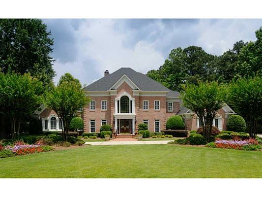 Gracious Brick Estate Home Georgia Luxury Homes