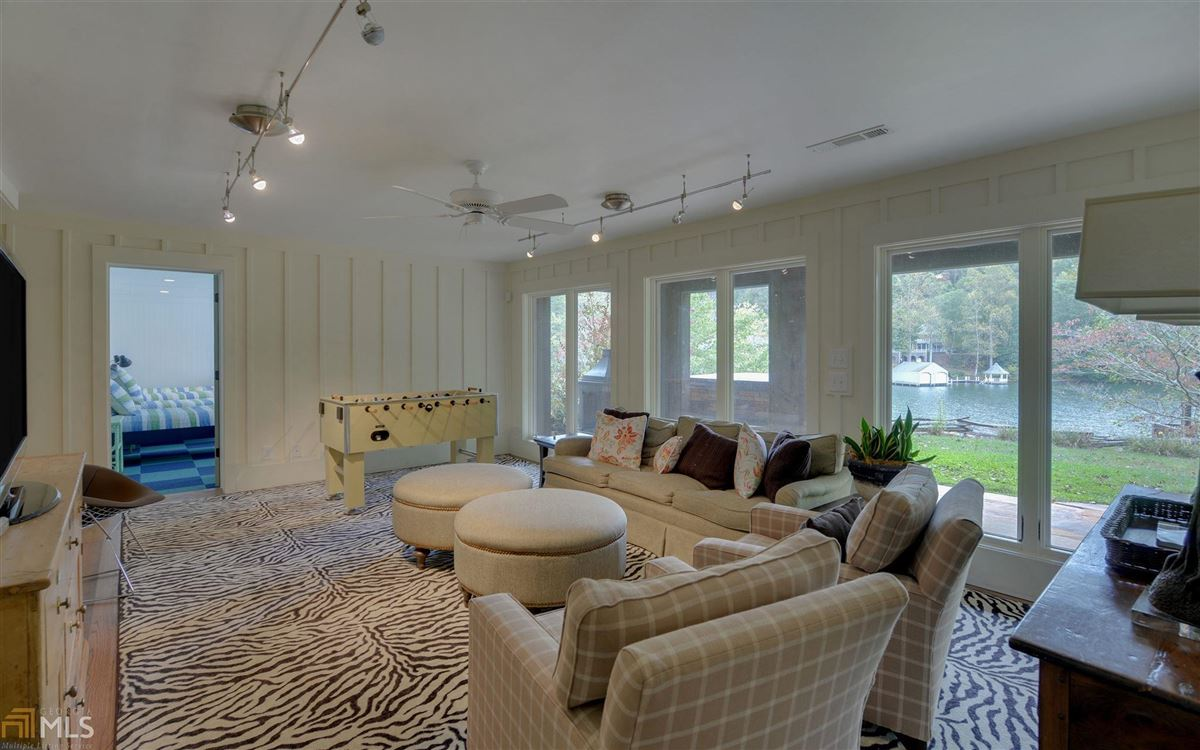 Luxury real estate renovated home on a large Lake Burton lot