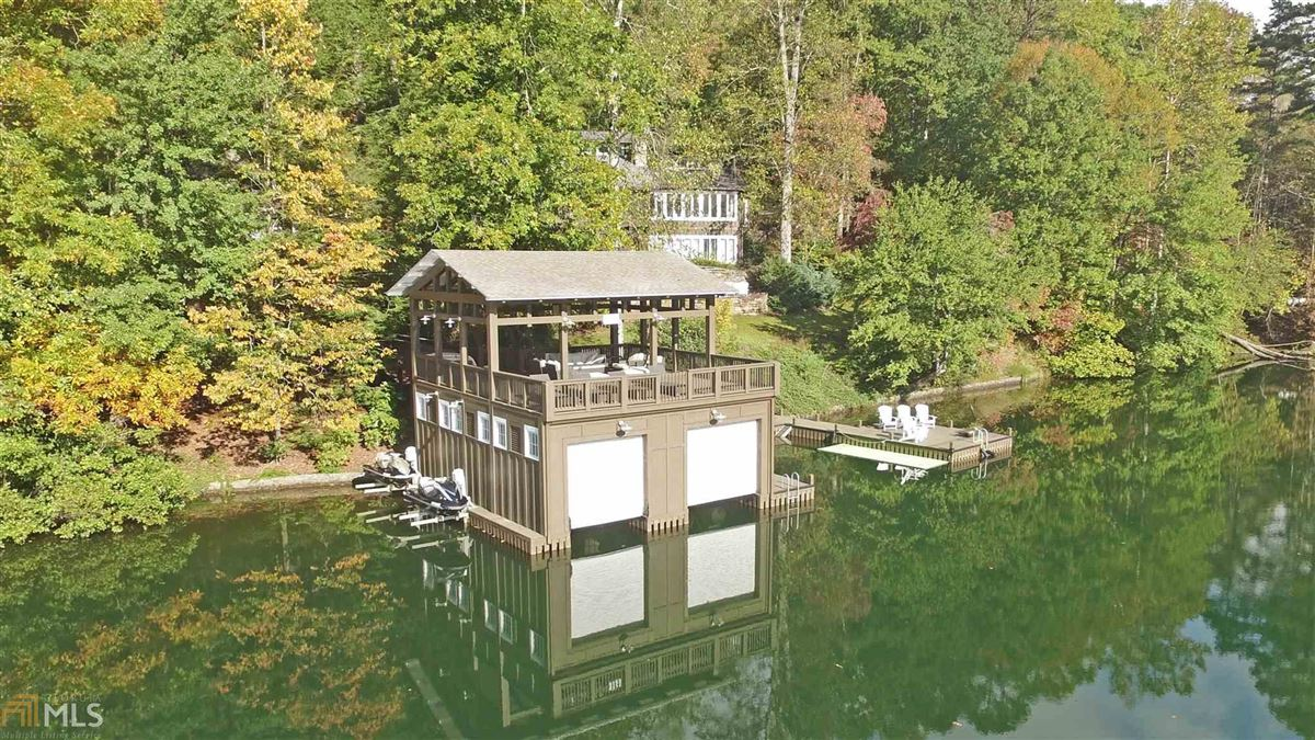 renovated home on a large Lake Burton lot luxury homes