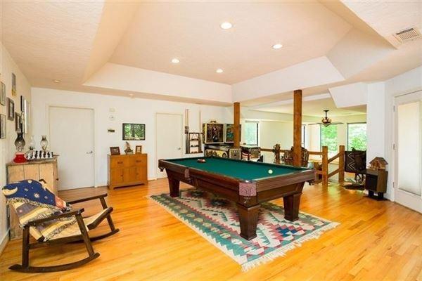 custom private retreat on Raccoon creek luxury homes