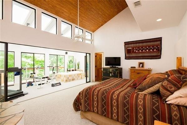 custom private retreat on Raccoon creek luxury real estate
