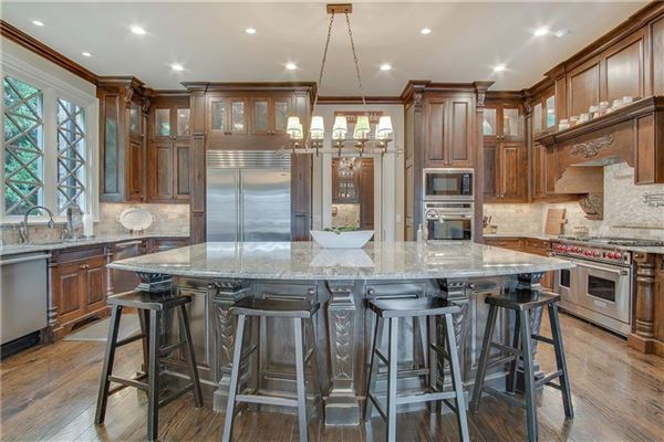Luxury real estate manor home on a private gated lot in chastain park