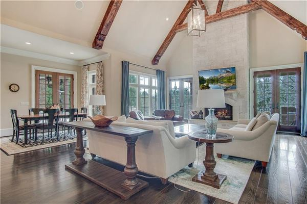 Mansions manor home on a private gated lot in chastain park