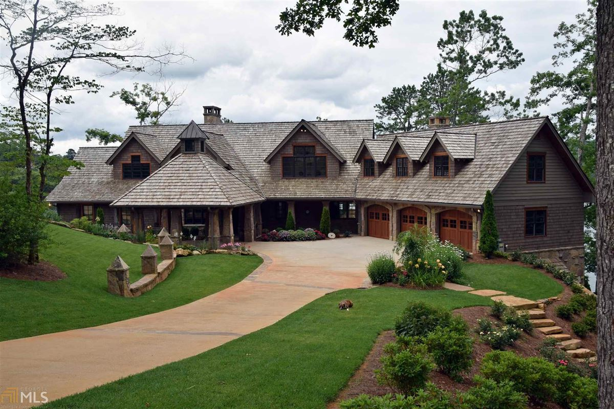 stately Lake Burton retreat luxury homes
