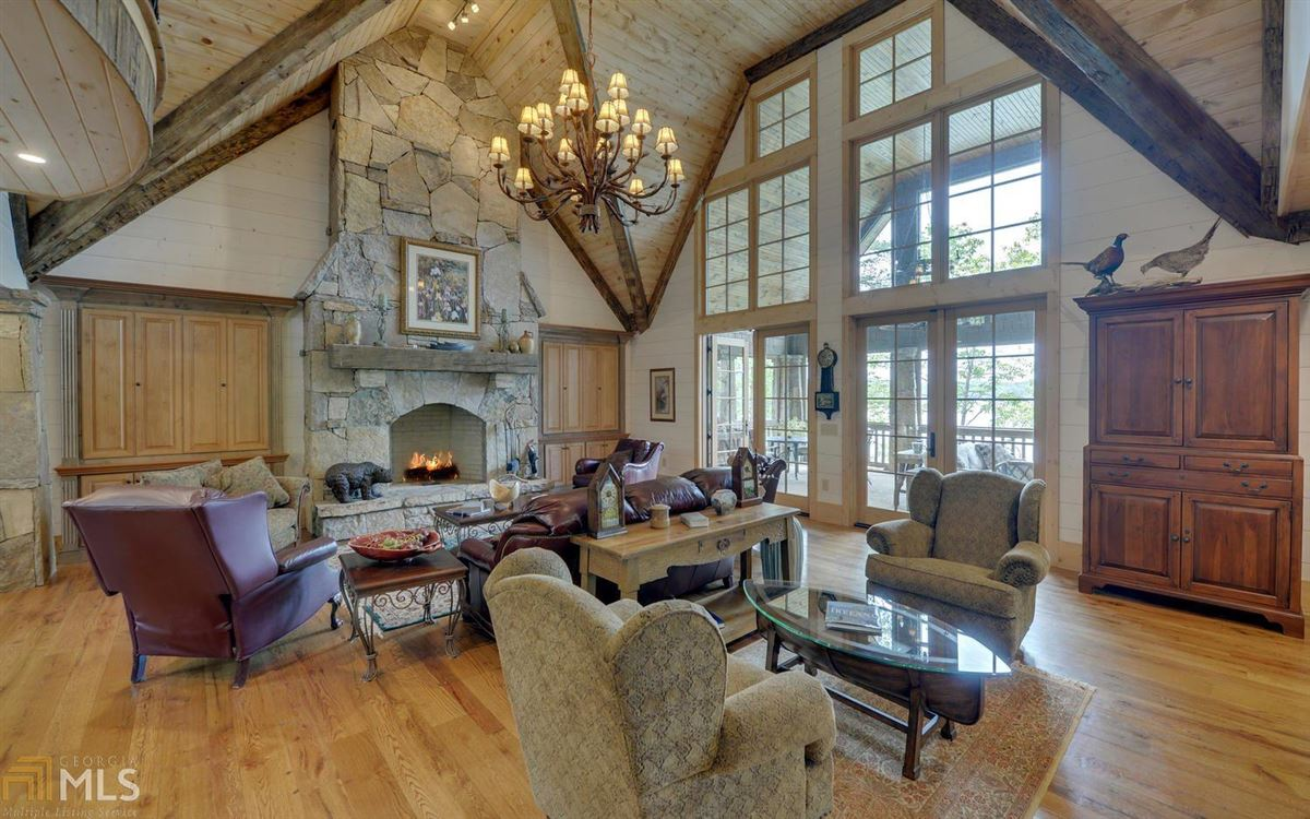 stately Lake Burton retreat luxury real estate