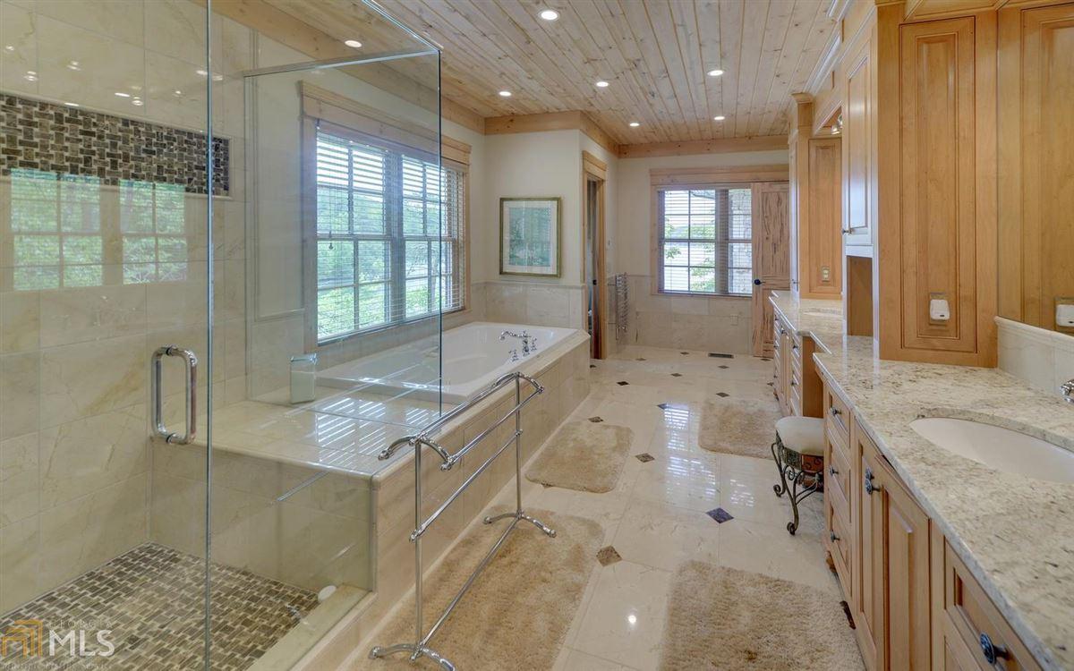 Luxury real estate stately Lake Burton retreat