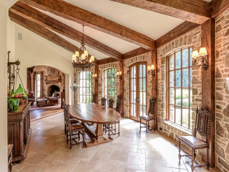 Mansions in French country manor home on a 46 acre world class equestrian estate