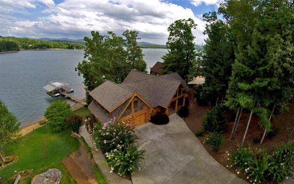 Log home on lake blue ridge georgia luxury homes - 4 bedroom homes for sale in atlanta georgia ...