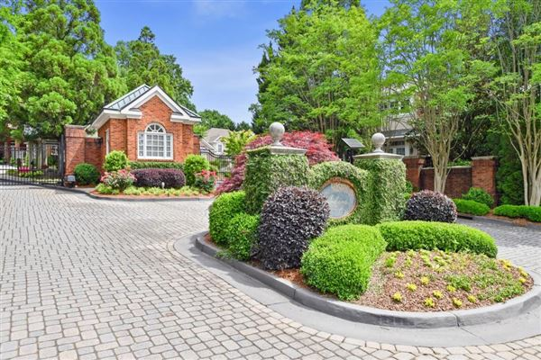 Luxury homes in private, gated community