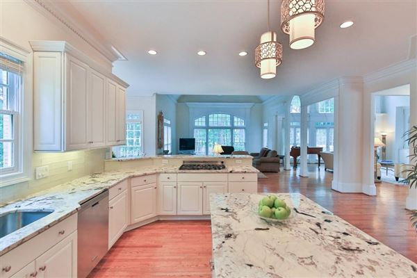 Beautiful renovation on handsome golf course estate mansions