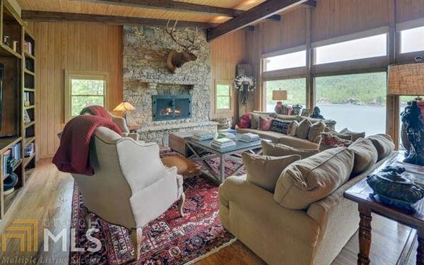 Adirondack style renovation on lake burton luxury homes