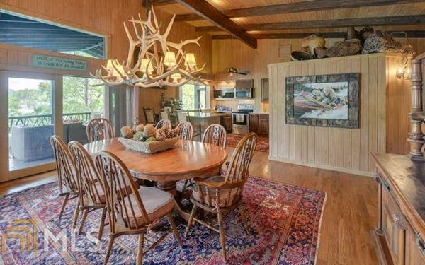 Luxury real estate Adirondack style renovation on lake burton