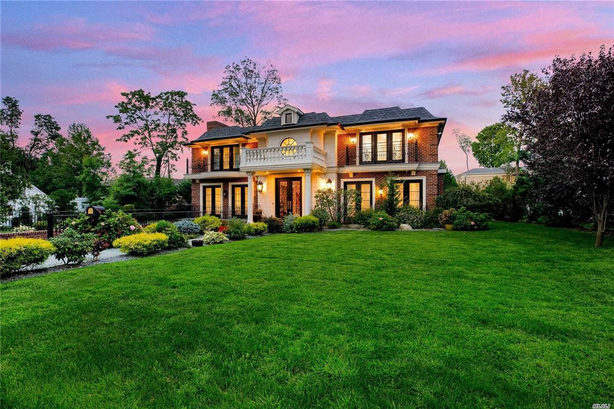 elegant and timeless all brick center hall colonial luxury real estate