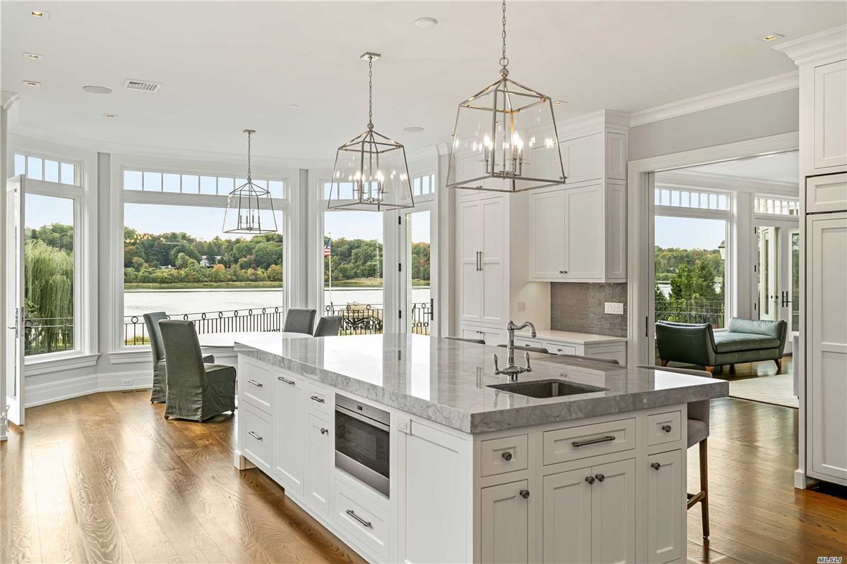 Luxury homes Newly designed colonial overlooking Manhasset Bay New York