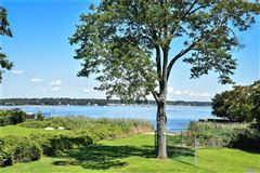 Mansions in Waterfront contemporary with open Manhasset Bay views