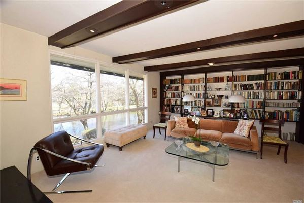 Waterfront contemporary with open Manhasset Bay views  luxury homes