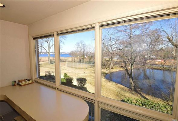 Mansions Waterfront contemporary with open Manhasset Bay views