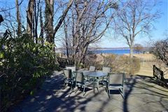 Luxury homes in Waterfront contemporary with open Manhasset Bay views