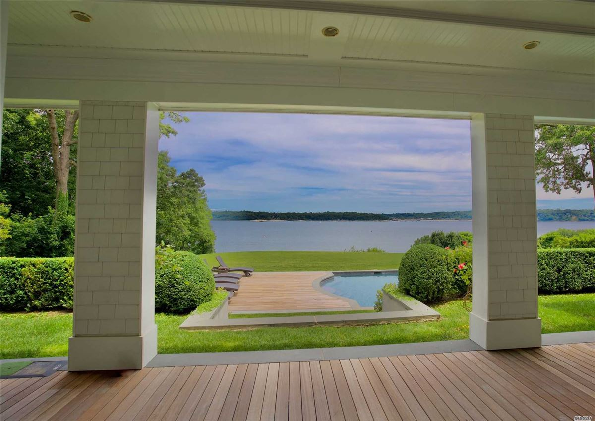 Luxury real estate Newly rebuilt Hampton style waterfront home