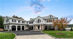 newly designed colonial overlooking Manhasset Bay mansions