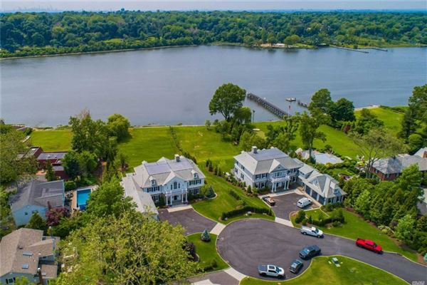 newly designed colonial overlooking Manhasset Bay luxury homes