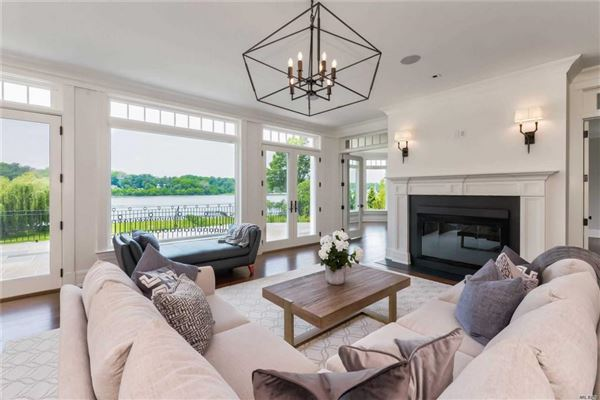Mansions newly designed colonial overlooking Manhasset Bay