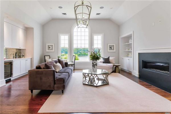 Luxury real estate newly designed colonial overlooking Manhasset Bay