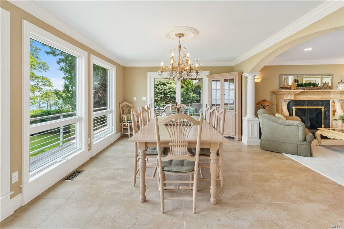 Luxury homes three levels of unobstructed view of the Long Island Sound