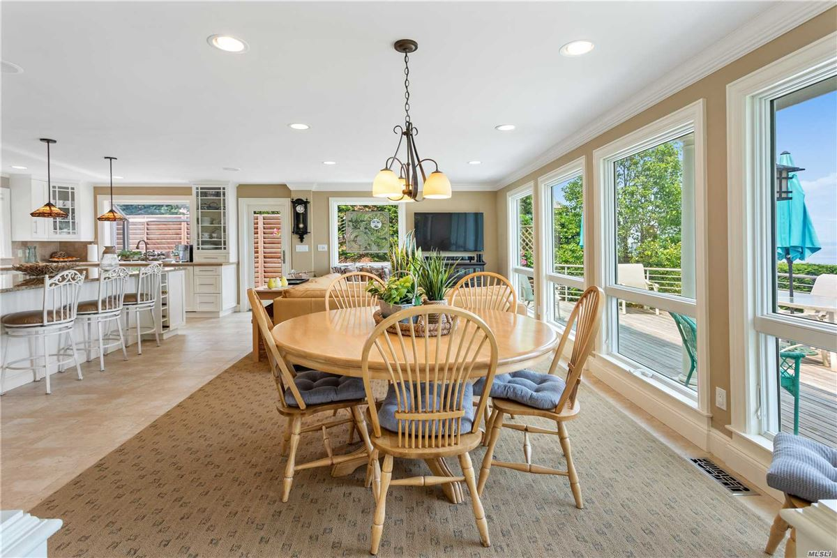 three levels of unobstructed view of the Long Island Sound luxury homes