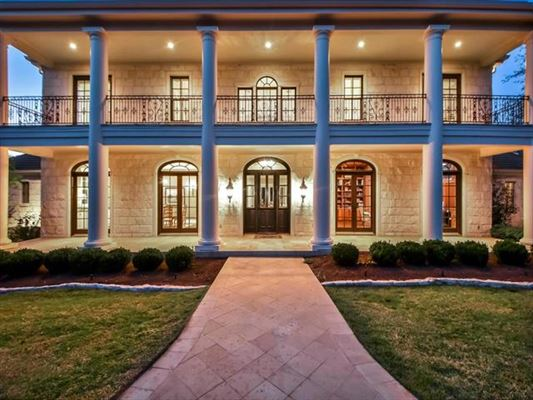 Luxury homes hill country neoclassical home