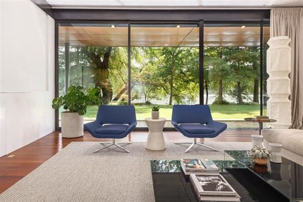 extensive remodel in a Zen-like lakeside setting luxury real estate