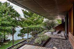 Luxury homes in extensive remodel in a Zen-like lakeside setting