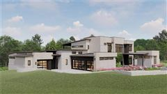 Mansions in new contemporary in gated Scenic View