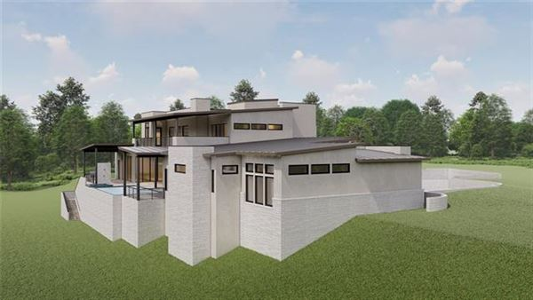 new contemporary in gated Scenic View luxury homes