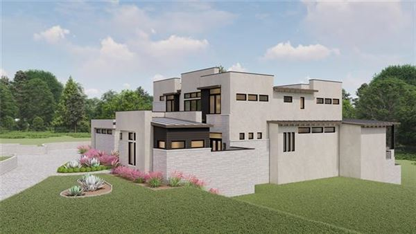 new contemporary in gated Scenic View luxury properties