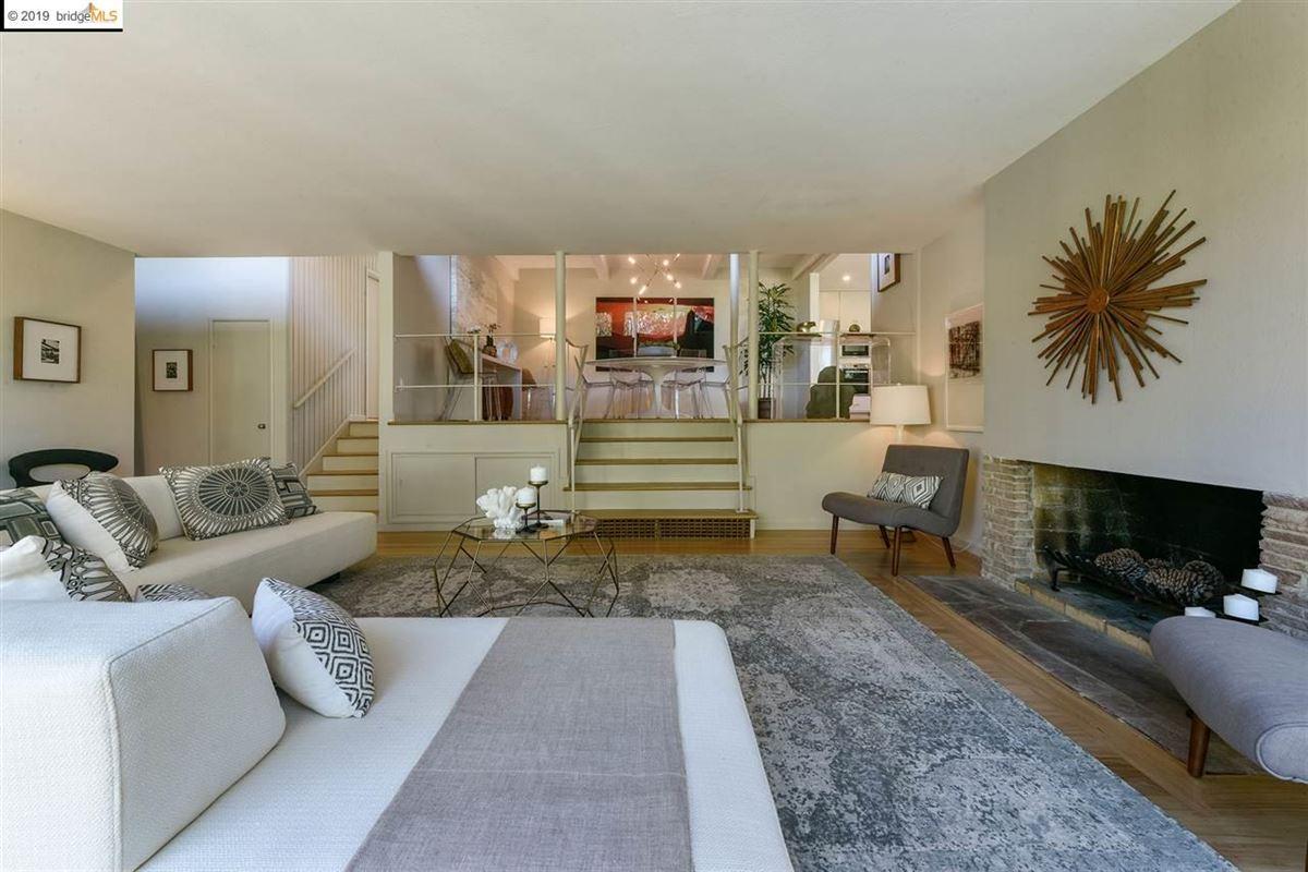 Luxury real estate highly stylized, Mid-Century Modern