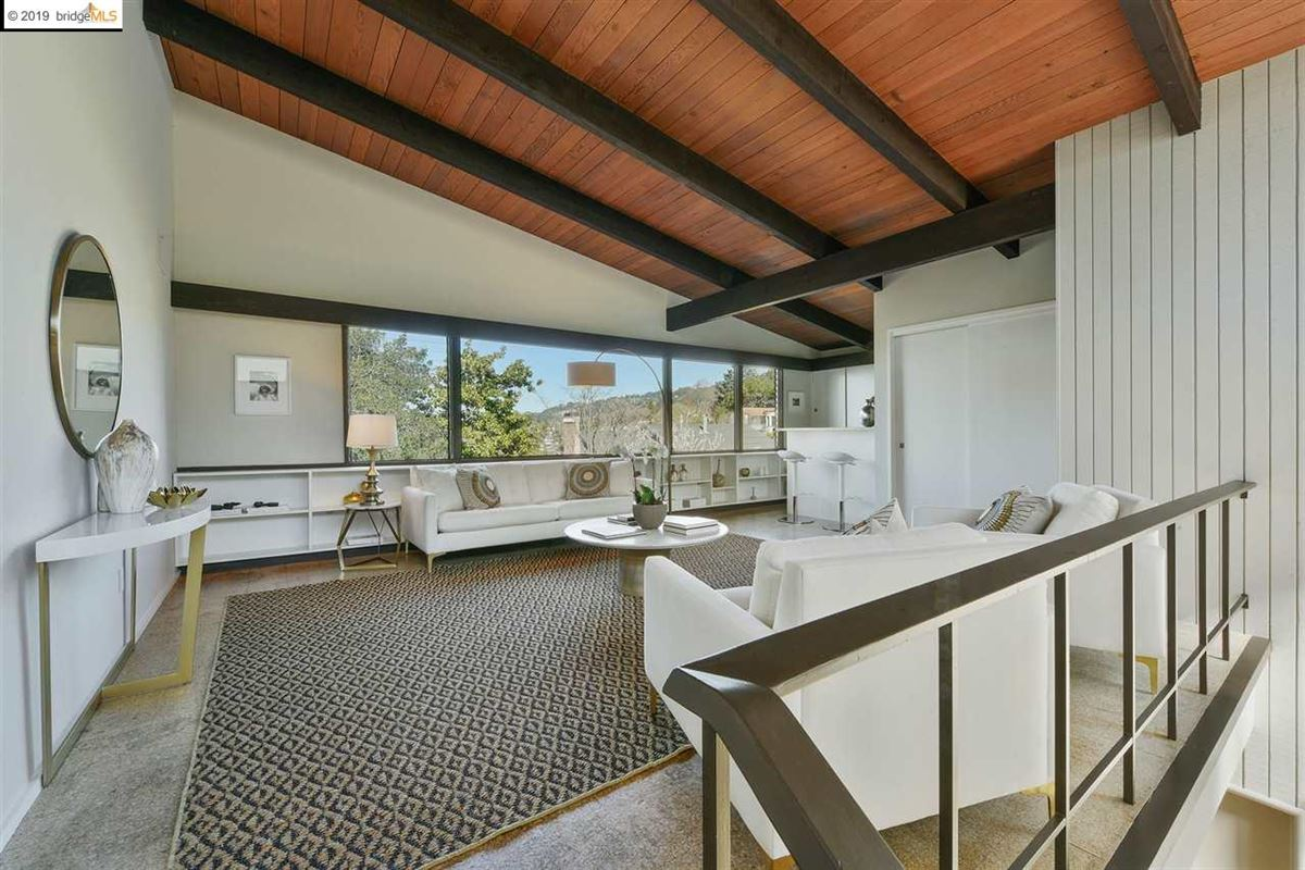 highly stylized, Mid-Century Modern luxury real estate
