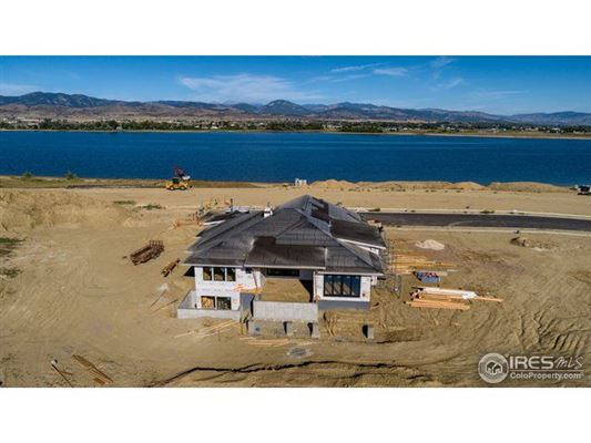 Luxury homes new custom home with west-facing views