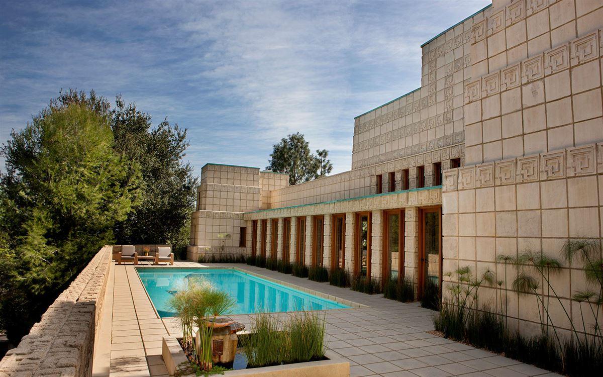 The ENNIS HOUSE in los angeles luxury homes