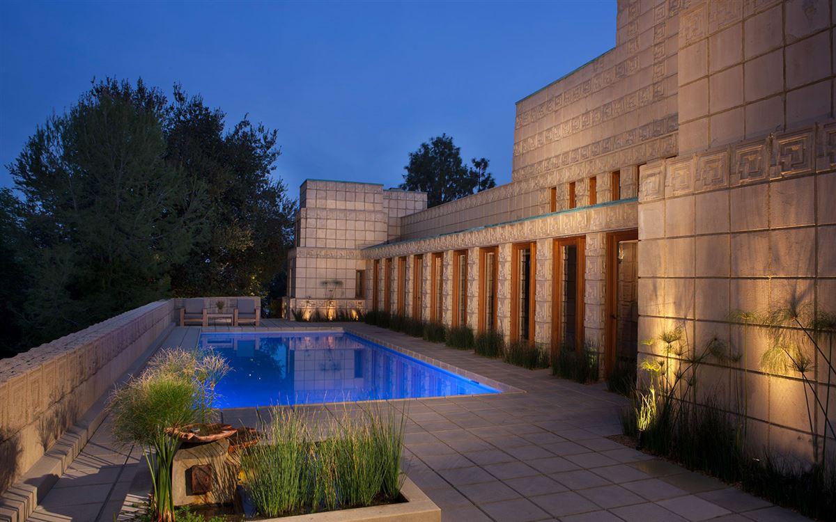 The ENNIS HOUSE in los angeles luxury properties