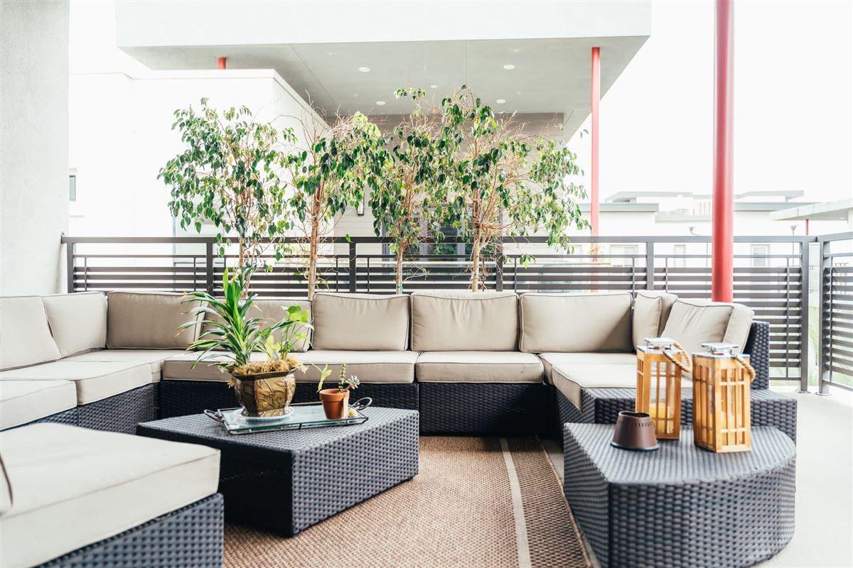 Luxury homes beautifully designed top floor single level condo at CLEO